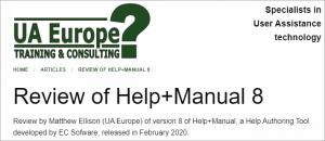 UA Europe Help+Manual Review