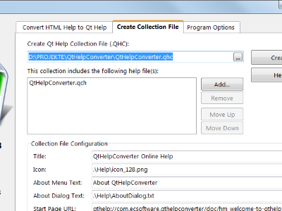 QtHelpConverter collection files