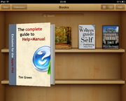 E-book, opening in Apple iBooks on an iPad