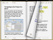 Two pages side by side in iBooks (landscape view)